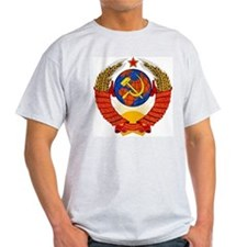 Soviet Union Coat of Arms Ash Grey T-Shirt