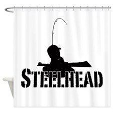 Steelhead fishing Shower Curtain