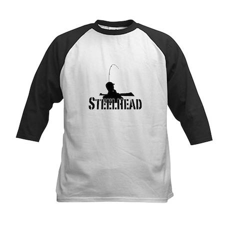 Steelhead fishing Kids Baseball Jersey