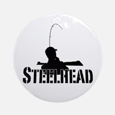 Steelhead fishing Ornament (Round)