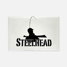 Steelhead fishing Rectangle Magnet