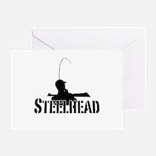 Steelhead fishing Greeting Card