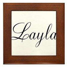 Layla Personalized Framed Tile