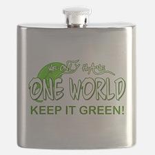 ONE WORLD KEEP IT GREEN Flask