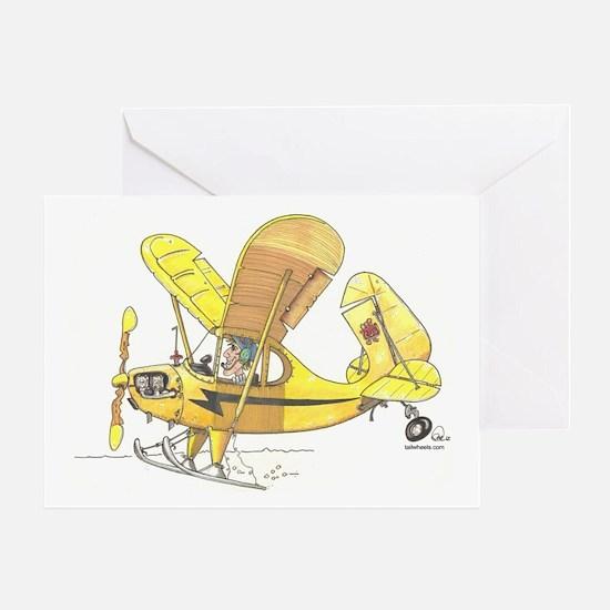 Cub Ski-Plane Greeting Card