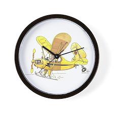 Cub Ski-Plane Wall Clock
