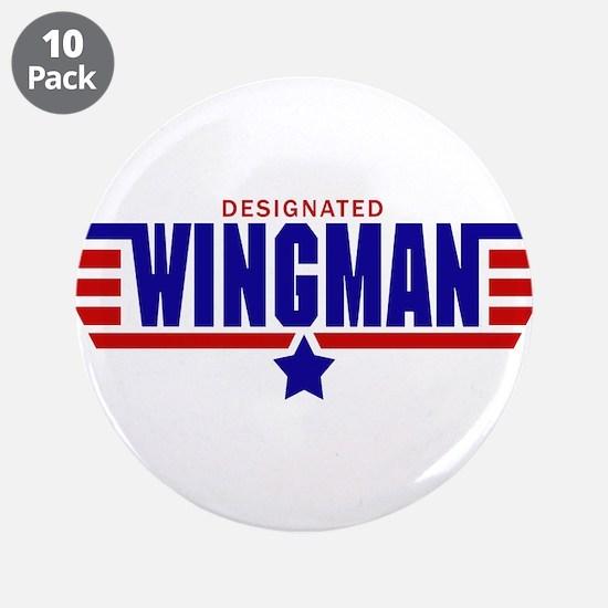 """Designated Wingman 3.5"""" Button (10 pack)"""