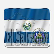 Silky Flag of El Salvador Mousepad