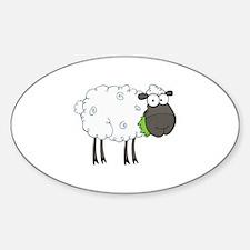 Sheep Sticker (Oval)