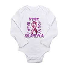 I Wear Pink for my Grandma Long Sleeve Infant Body