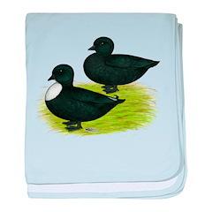 Black Call Ducks baby blanket