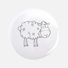"""Sheep 3.5"""" Button"""