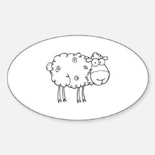 Sheep Sticker (Oval)