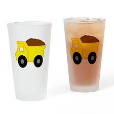 Yellow Dump Truck Drinking Glass