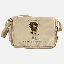 Beer pong skill Messenger Bag