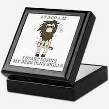 Beer pong skill Keepsake Box