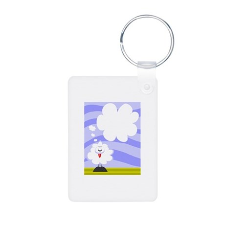 Sheep Aluminum Photo Keychain