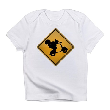 Squirrel on Scooter Warning Sign Infant T-Shirt