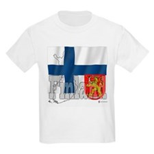 Silky Flag of Finland Kids T-Shirt