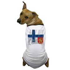 Silky Flag of Finland Dog T-Shirt