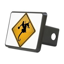 Seahorse Rodeo Warning Sign Hitch Cover