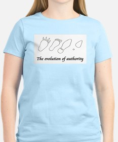 The evolution of authority Women's Pink T-Shirt