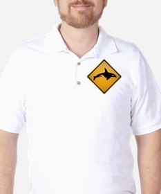 Orca Warning Sign Golf Shirt