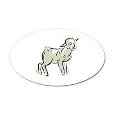 Sheep 22x14 Oval Wall Peel