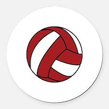 Volleyball Round Car Magnet