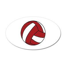Volleyball 22x14 Oval Wall Peel