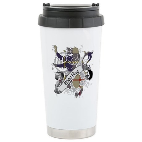 MacRae Tartan Lion Stainless Steel Travel Mug