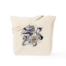 MacRae Tartan Lion Tote Bag