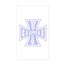 West Coast CRAPPERS Rectangle Decal