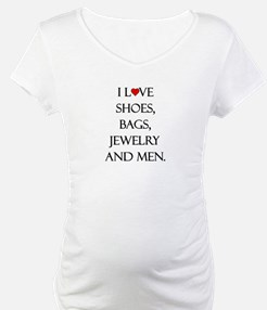 I love shoes, bags, jewelry and men. Shirt