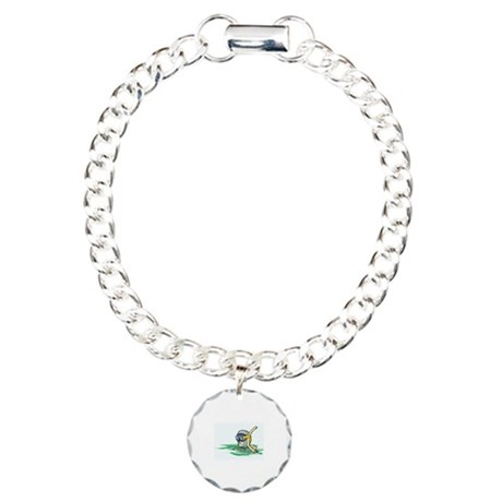 Swimming Charm Bracelet, One Charm