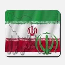 Silky Flag Iran (Arabic) Mousepad