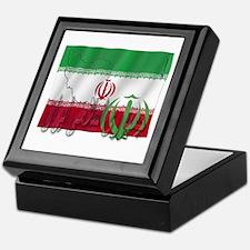 Silky Flag Iran (Arabic) Keepsake Box