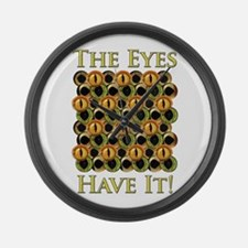 The Eyes Have It! Large Wall Clock