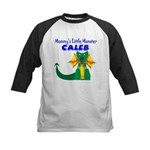 Mommy's Little Monster Caleb Kids Baseball Jersey
