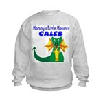 Mommy's Little Monster Caleb Kids Sweatshirt