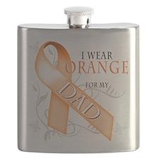 I Wear Orange for my Dad.png Flask