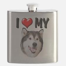 I Love My Alaskan Malamute.png Flask
