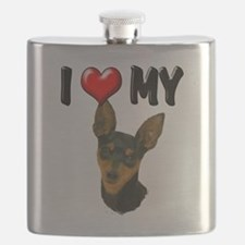 I Love My Min Pin.png Flask