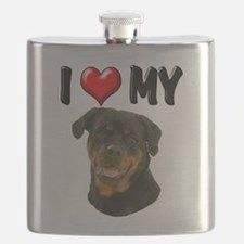 I Love My Rottweiler.png Flask