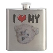 I Love My Schnoodle.png Flask