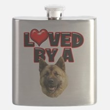 Loved by a Akita.png Flask