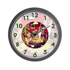 POKER DOGS Wall Clock