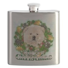 Merry Christmas Chow Chow.png Flask