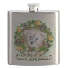 Merry Christmas Schnoodle.png Flask