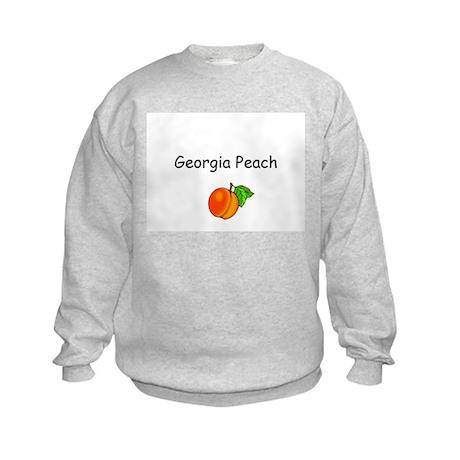 Georgia Peach Souvenir Kids Sweatshirt